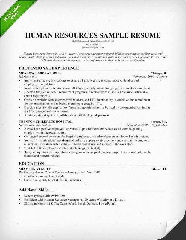 human resource internship resume fresh resources hr sample writing tips in cover letter Resume Workday Resume Template