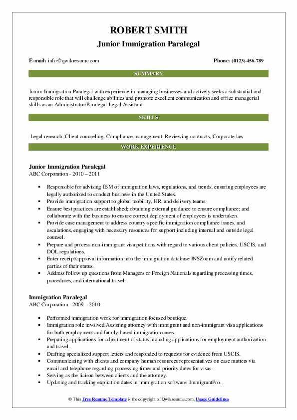immigration paralegal resume samples qwikresume status pdf objective for oil and gas Resume Resume Immigration Status