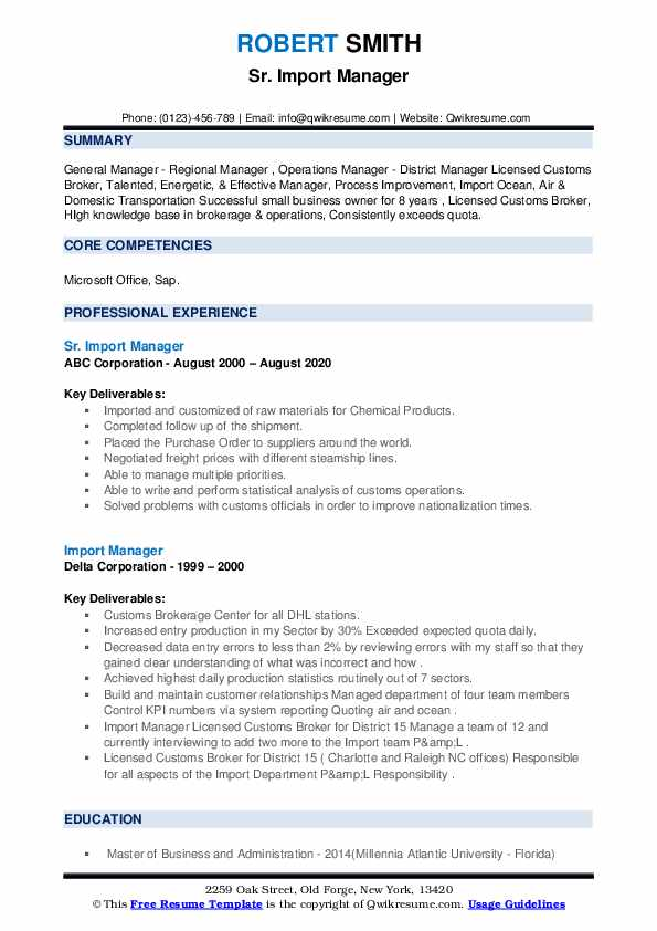 import manager resume samples qwikresume to template pdf civil engineering templates word Resume Import Resume To Template