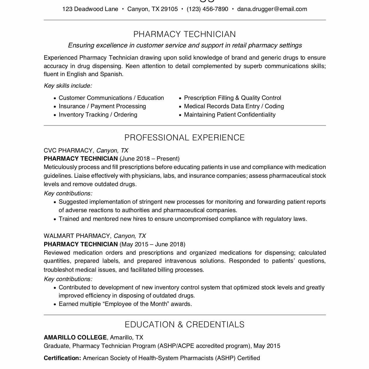 important job skills for pharmacy technicians certified technician resume shipping best Resume Certified Pharmacy Technician Resume
