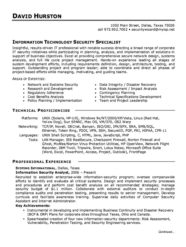 information security analyst resume cybersecurity sample entry level esthetician Resume Cybersecurity Analyst Resume Sample