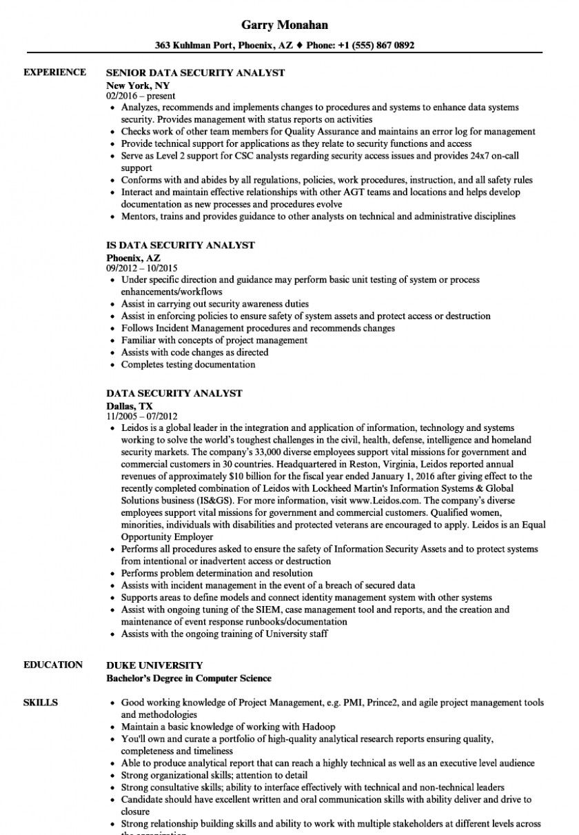information security analyst resume data samples velvet jobs cyber entry examples medical Resume Cybersecurity Analyst Resume Sample