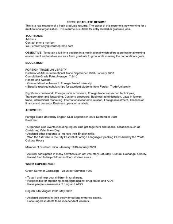 innovativ resume sample for fresh graduate format graduates two form job samples student Resume Example Of Best Resume For Fresh Graduate