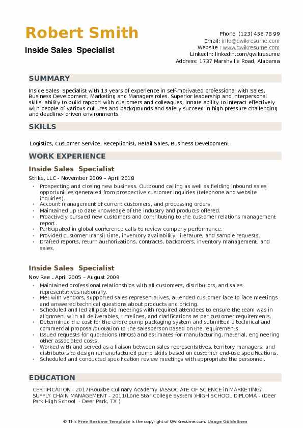 inside specialist resume samples qwikresume examples pdf mbbs doctor template personal Resume Inside Sales Resume Examples