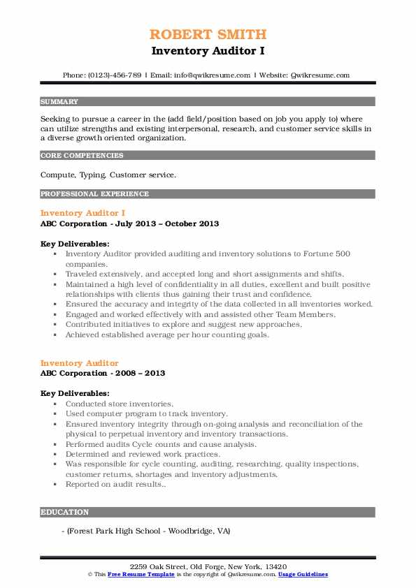 inventory auditor resume samples qwikresume pdf buzzwords volunteer experience section Resume Inventory Auditor Resume
