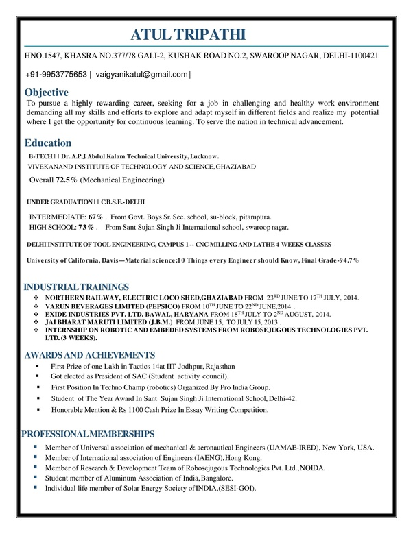 is the best resume for mechanical engineer fresher quora engineering freshers good Resume Best Mechanical Engineering Resume For Freshers