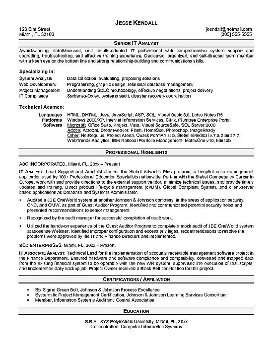 it analyst resume example programmer sample residential home builder for education majors Resume Programmer Analyst Resume Sample