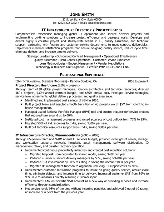 it project leader resume sample template engineering manager examples pm executive Resume Engineering Project Manager Resume Examples