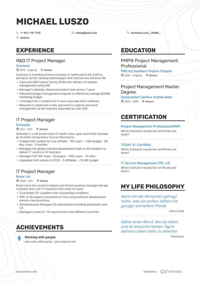 it project manager resume examples and skills you need to get hired summary nobel the Resume Resume Summary Examples Project Manager