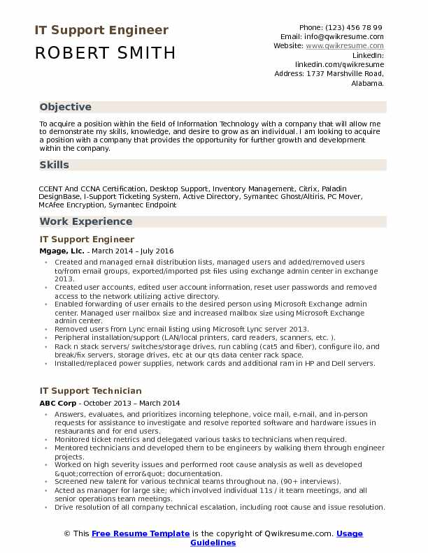 it support engineer resume samples qwikresume customer pdf make perfect step easy simple Resume Customer Support Engineer Resume