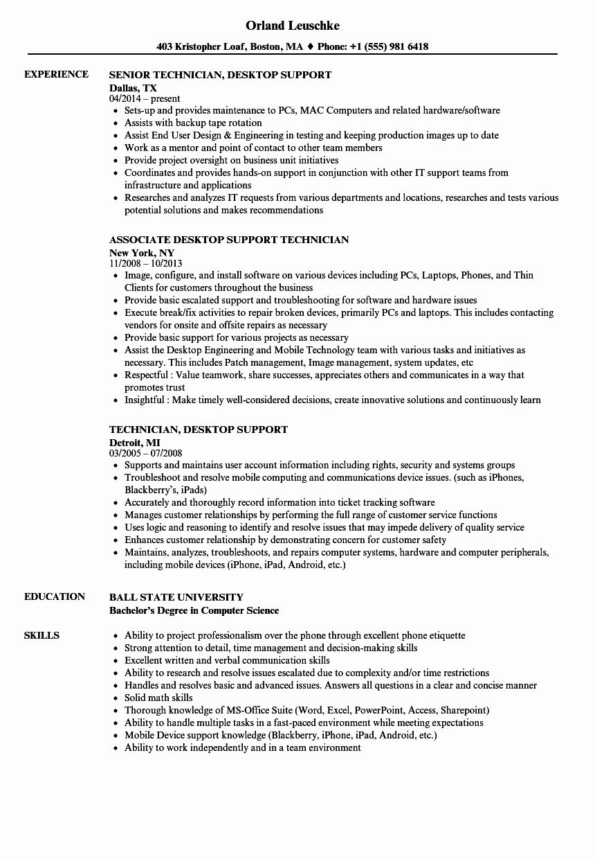 it support technician resume best of desktop samples examples project manager engineering Resume It Supports Technician Resume Samples