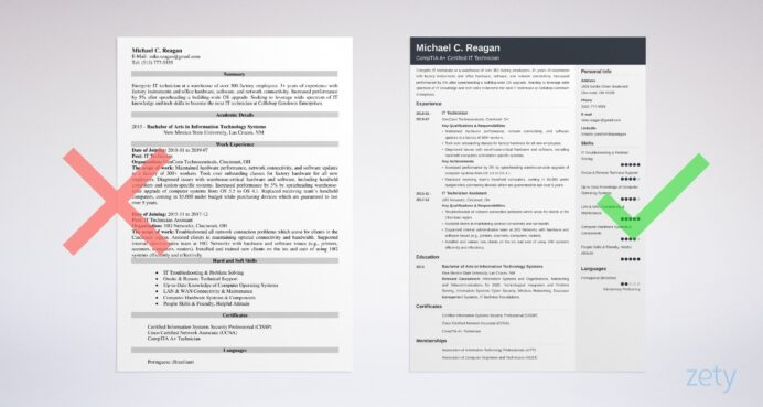 it technician resume example guide tips summary for umd template services cost case Resume Recruiter Asking For Updated Resume