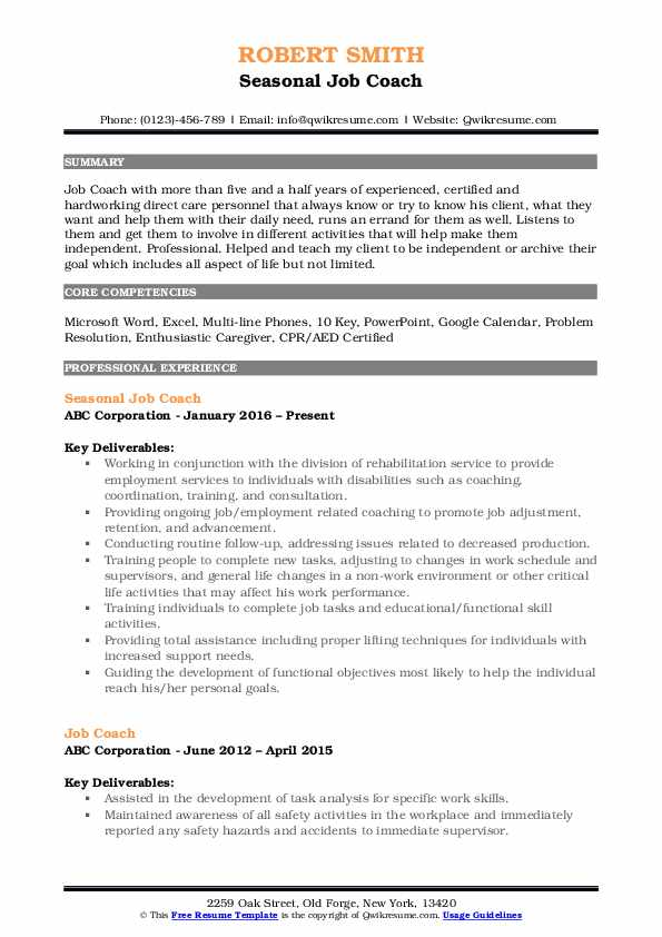 job coach resume samples qwikresume objective for coaching pdf make fast and easy Resume Objective For Coaching Resume