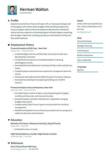 job winning resume templates free io template for term employment machine learning Resume Free Resume Template For Long Term Employment