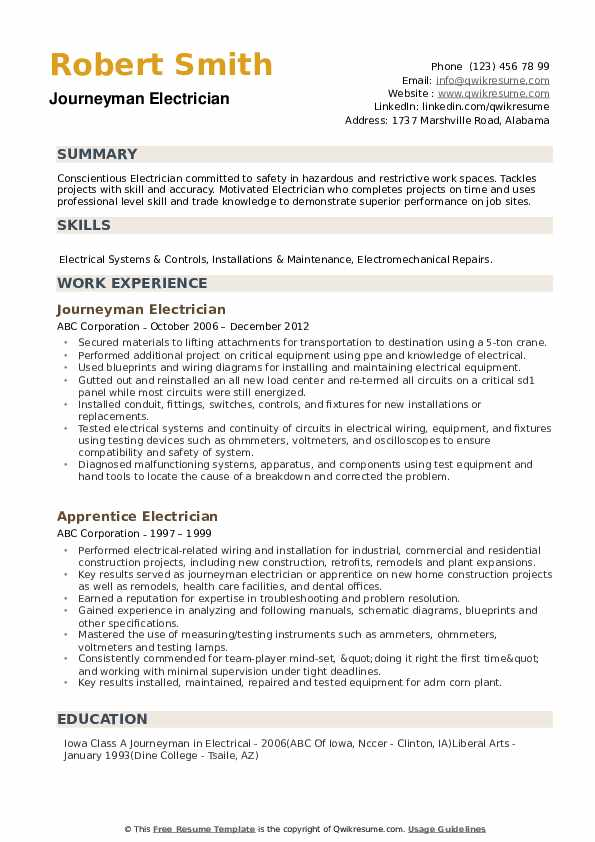 journeyman electrician resume samples qwikresume example pdf commercial underwriter hands Resume Journeyman Resume Example