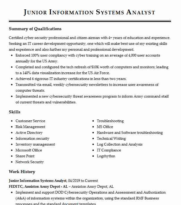 junior information security analyst resume example consulting shipping receiving manager Resume Junior Security Analyst Resume