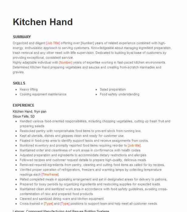 kitchen resume example knoxville aged care facility new responsibilities credit Resume Kitchen Hand Responsibilities Resume