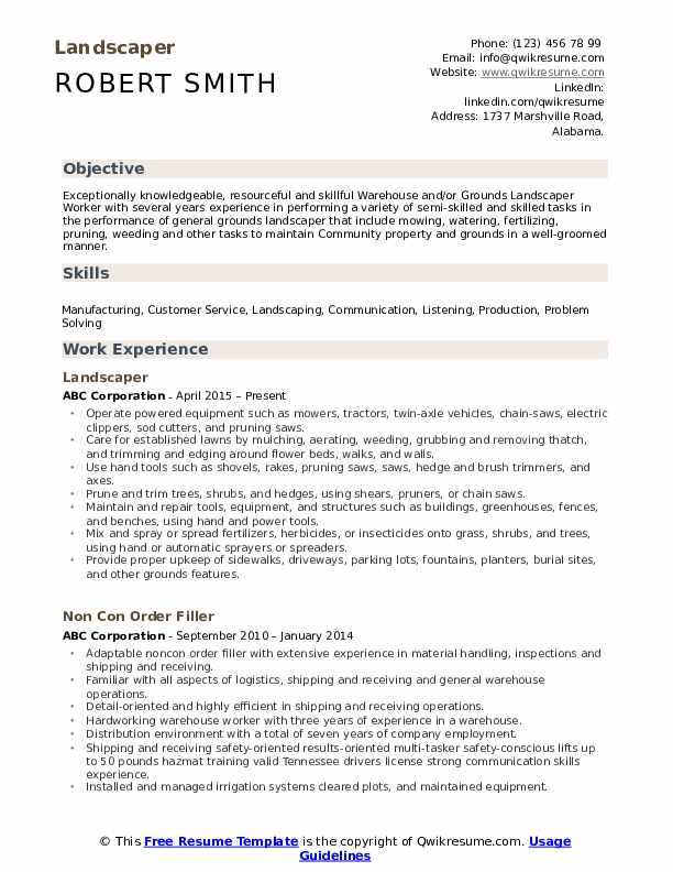landscaper resume samples qwikresume sample pdf federal air marshal physician client Resume Landscaper Resume Sample