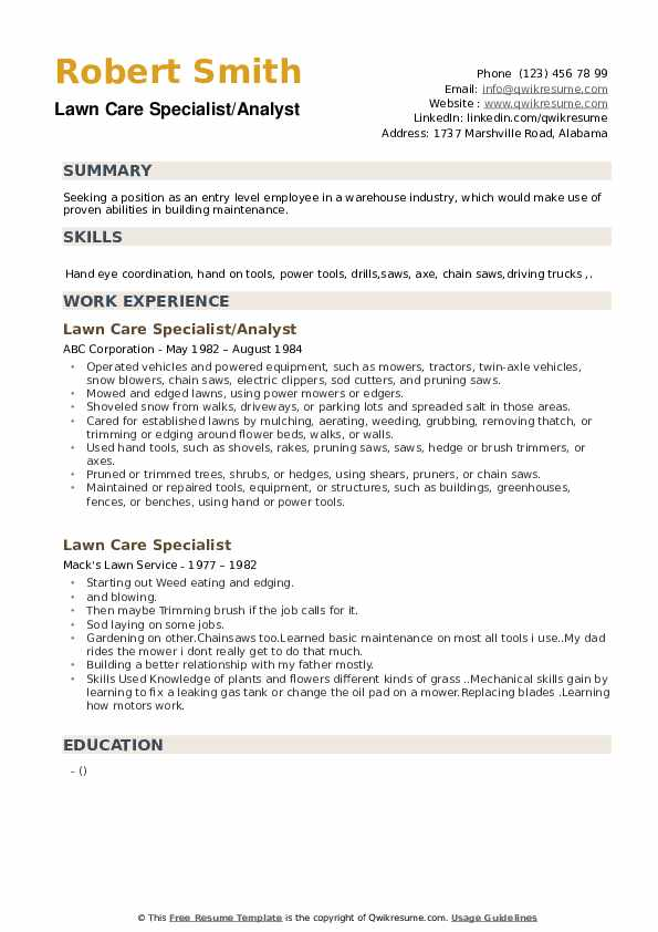 lawn care specialist resume samples qwikresume pdf scanner test examples for restaurant Resume Lawn Care Specialist Resume