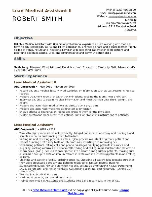 lead medical assistant resume samples qwikresume senior pdf attached email sample strong Resume Senior Medical Assistant Resume