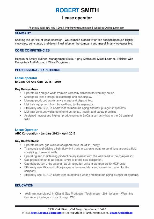 lease operator resume samples qwikresume oil gas pdf free functional template platoon Resume Oil & Gas Resume Samples