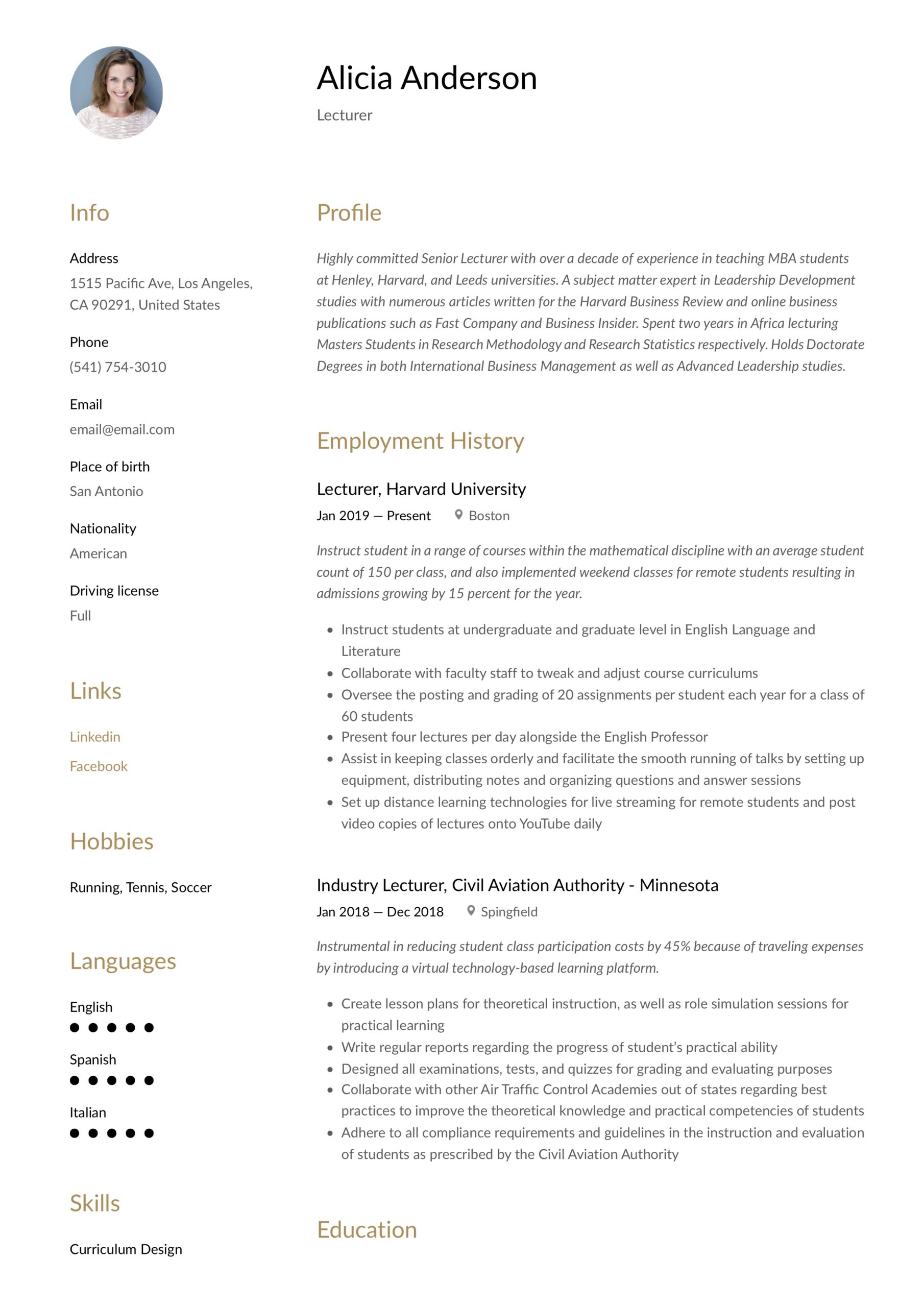 lecturer resume writing guide free examples chemistry professor logistics administrative Resume Chemistry Professor Resume