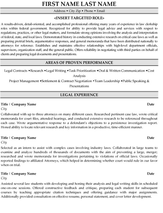legal clerk resume sample template judicial law forklift experience free with photo Resume Judicial Law Clerk Resume Sample