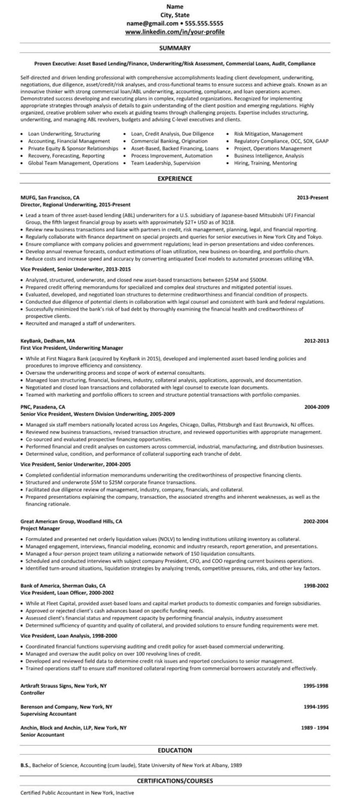 linkedin profile resume example mortgage broker loan officer skills for action words and Resume Mortgage Skills List For Resume