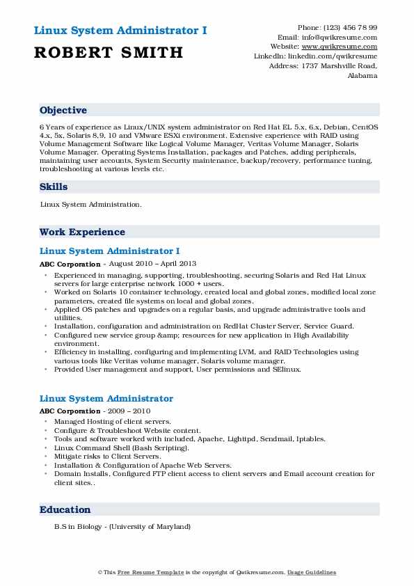 linux system administrator resume samples qwikresume year experience pdf reference setup Resume Linux Administrator Resume 4 Year Experience
