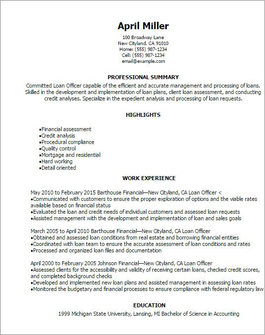 loan officer marketing plan template luxury finance resume templates to impress any cover Resume Business Loan Officer Resume