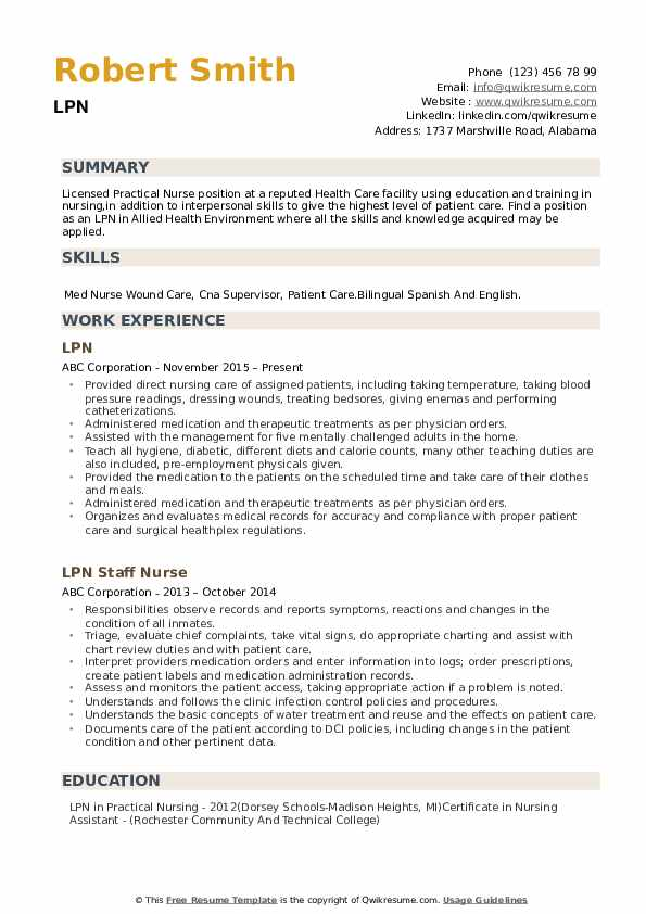 lpn resume samples qwikresume home health job description for pdf desiopt blast military Resume Home Health Lpn Job Description For Resume