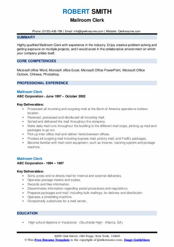 mailroom clerk resume samples qwikresume sample summary pdf warehouse distribution great Resume Warehouse Clerk Resume Examples