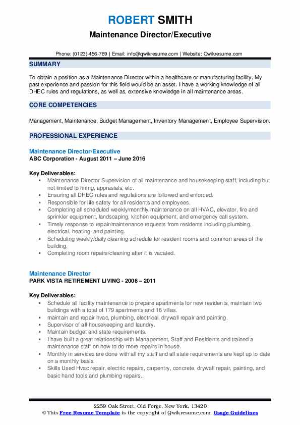 maintenance director resume samples qwikresume facility pdf computer science objective Resume Director Of Facilities Resume