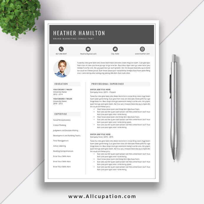 make yourself more competitive in job market with this beautiful and creative resume Resume Millennial Resume Format