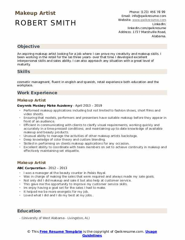 makeup artist resume samples qwikresume retail pdf health coach learning and development Resume Retail Makeup Artist Resume