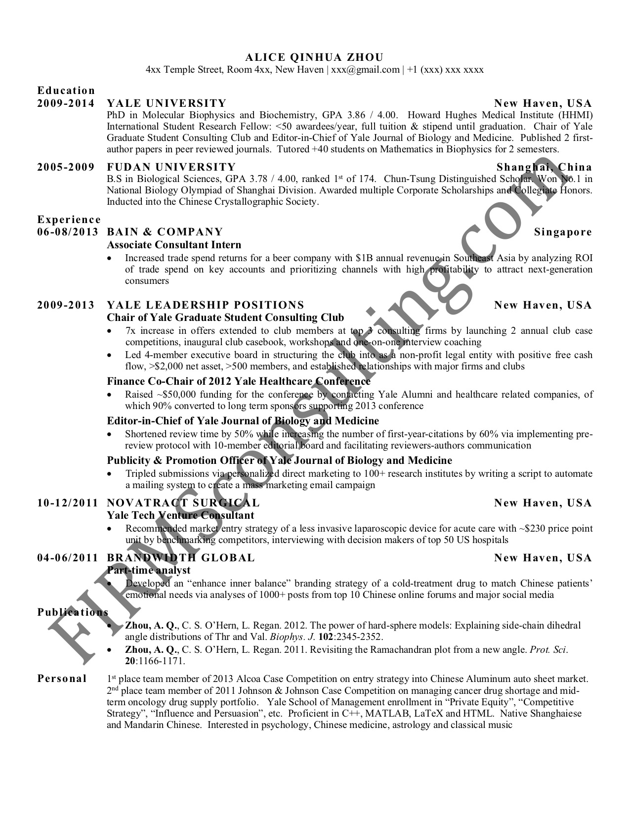 management consultant resume is screened at mckinsey etc strategy consulting sample for Resume Strategy Consultant Resume
