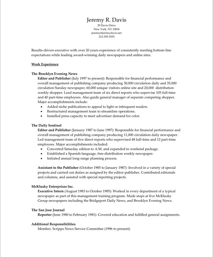 managing editor free resume samples blue sky resumes opening statement on 39before whats Resume Opening Statement On A Resume