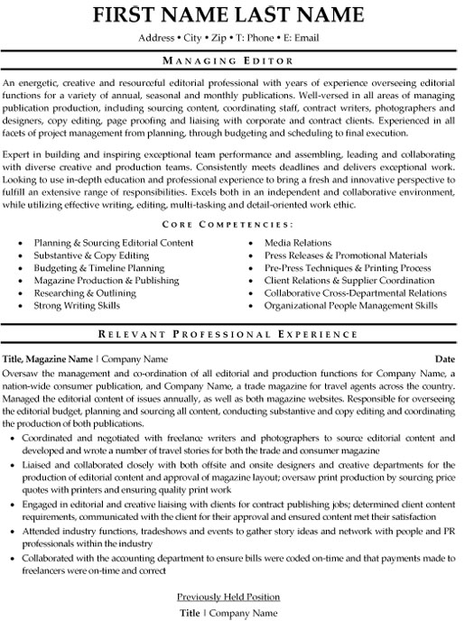 managing editor resume sample template for editorial position when did commercial flights Resume Resume For Editorial Position