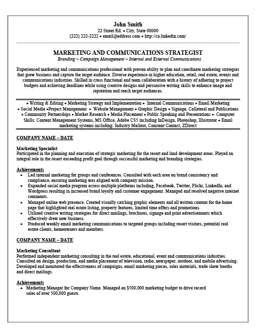 marketing specialist resume template premium samples example email customer care Resume Email Marketing Specialist Resume