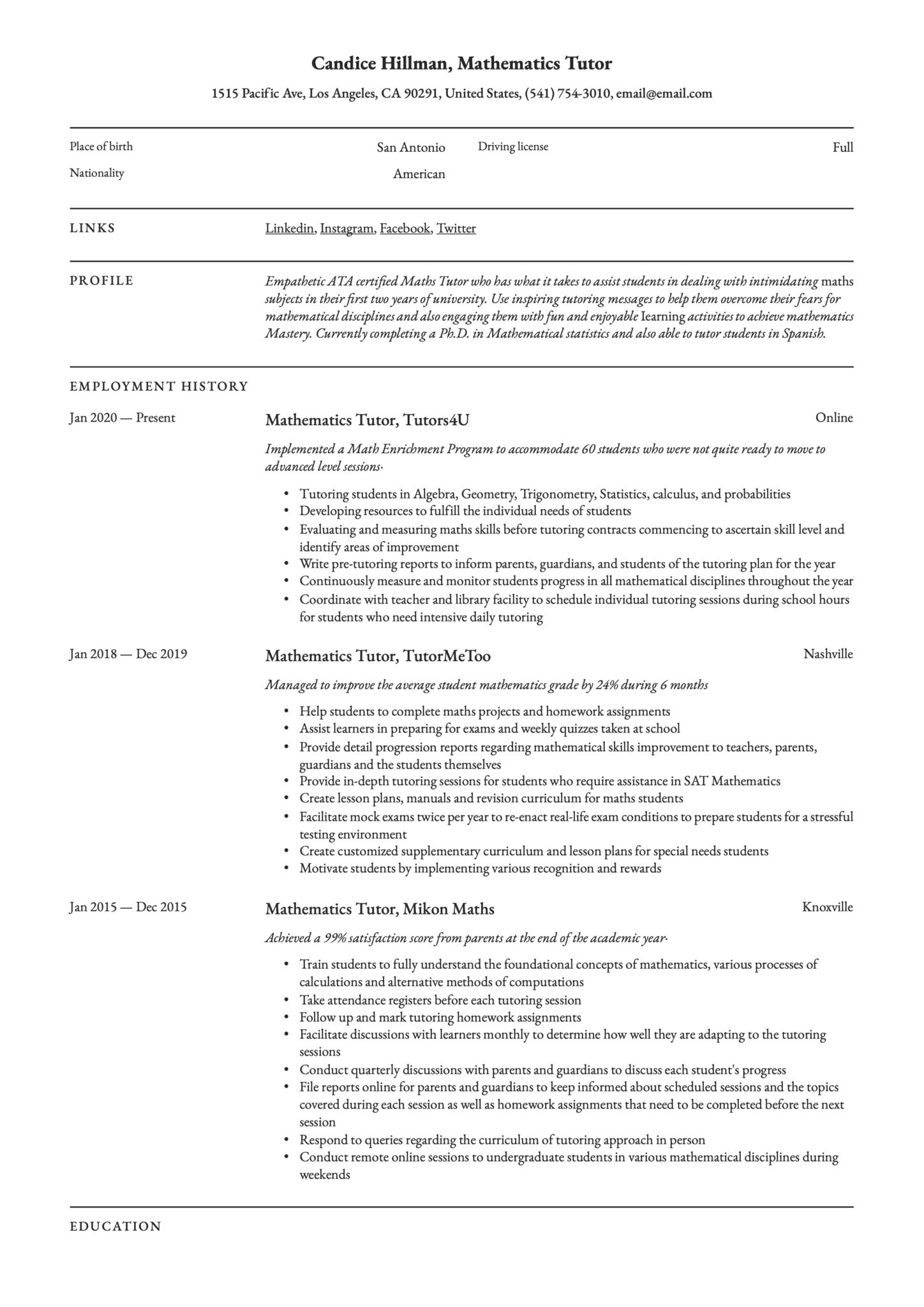 mathematics tutor resume writing guide examples math description scaled qualities and Resume Math Tutor Description Resume