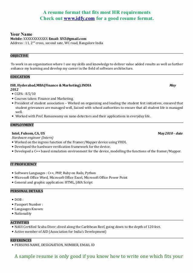 mba application resume examples inspirational sample format business template best Resume Mba Application Resume Sample