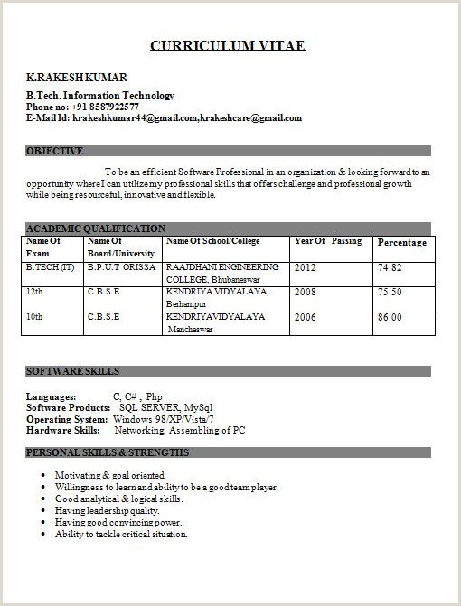 mca fresher cv format free best resume for freshers college examples linux design your Resume Mca Fresher Resume Format Free Download