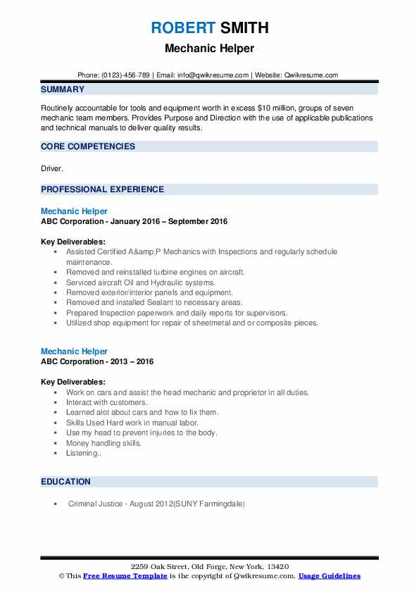 mechanic helper resume samples qwikresume mechanical pdf template bloomberg market Resume Mechanical Helper Resume