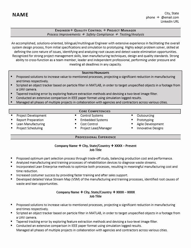 mechanical engineering resume objectives luxury example great tips to writing job Resume Control Systems Engineer Resume Sample