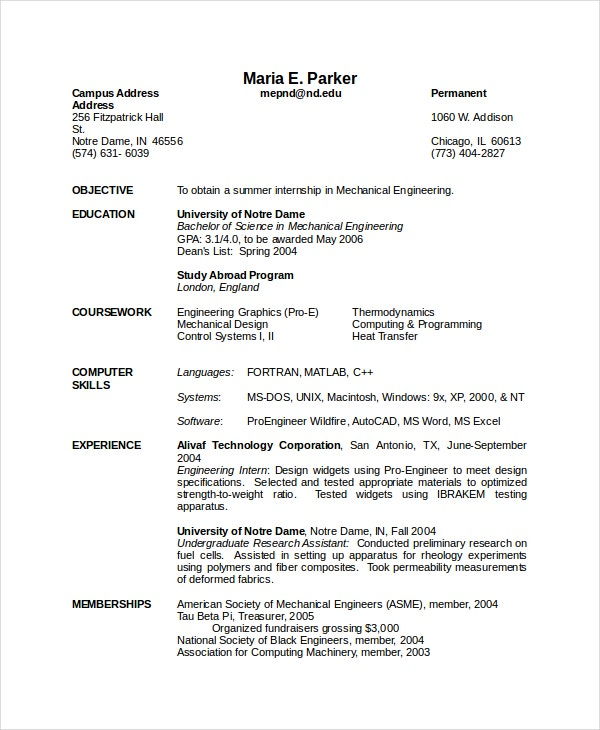 mechanical engineering resume templates pdf free premium best for freshers fresher charge Resume Best Mechanical Engineering Resume For Freshers