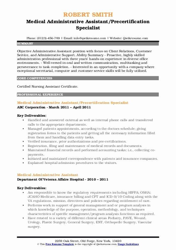 medical assistant resume objective statements new administrat administrative office when Resume Medical Office Assistant Resume