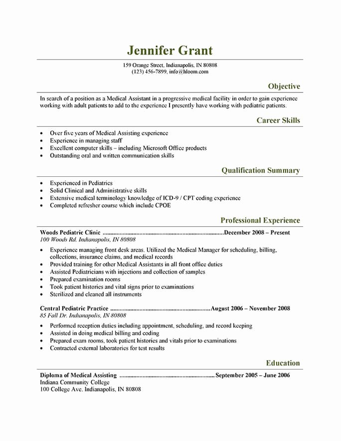 medical assistant resume objective statements new templates and job tips elfaro for Resume Resume Objective For Healthcare Job