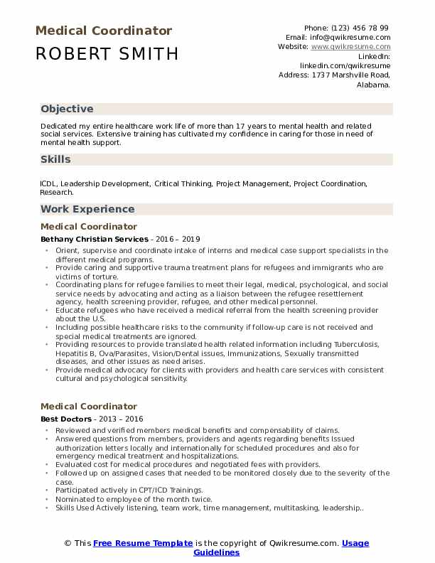 medical coordinator resume samples qwikresume good objectives for healthcare pdf Resume Good Resume Objectives For Healthcare