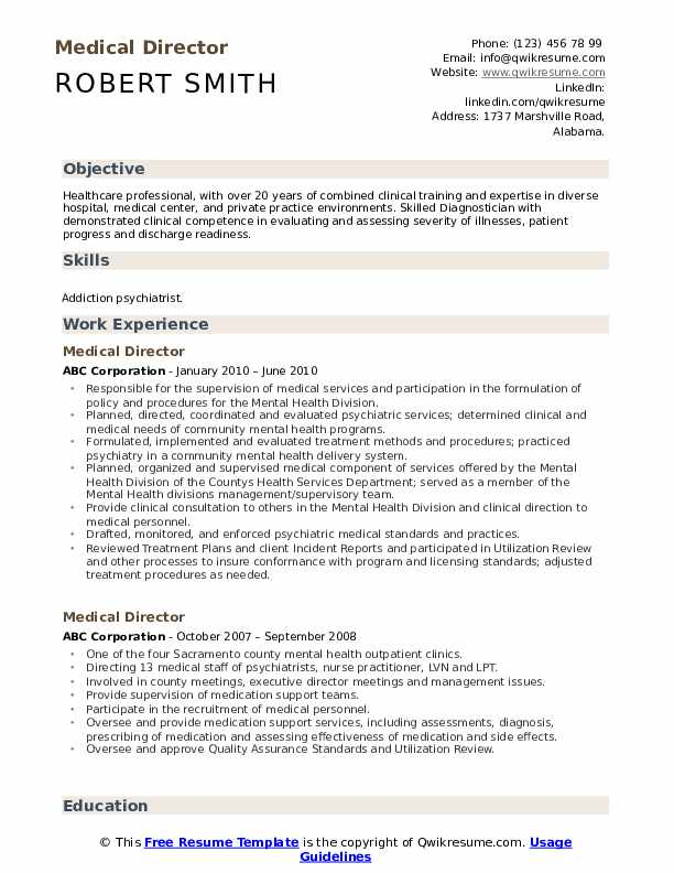 medical director resume samples qwikresume sample for healthcare professional pdf summary Resume Sample Resume For Healthcare Professional