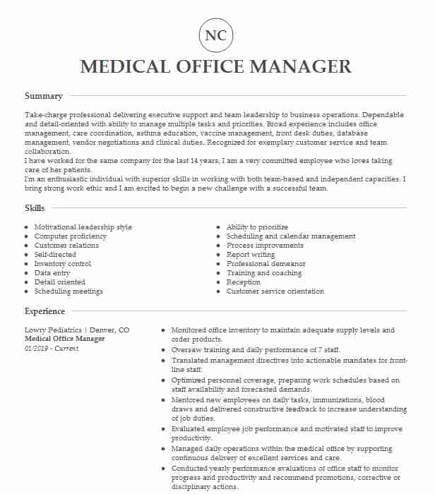 medical office manager resume example company name samples find job without lvn Resume Medical Office Manager Resume Samples